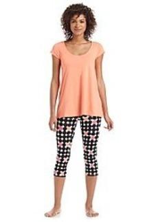 HUE® Dot Capri Leggings Pajama Set