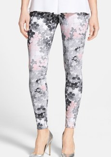 Hue Faded Floral Denim Leggings