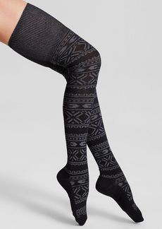 HUE Fair Isle Space-Dyed Over-the-Knee Socks