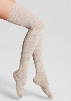 HUE Fair Isle Space-Dyed Over-the-Knee Socks