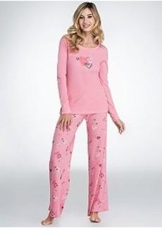 HUE Fall In Love Thermal Pajama Set
