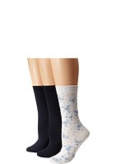 HUE Femme Top Sock 3-Pair Pack