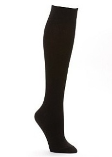 HUE Flat Knit Knee High Socks