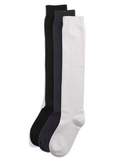 Hue Flat Knit Knee Socks (3 for $21)