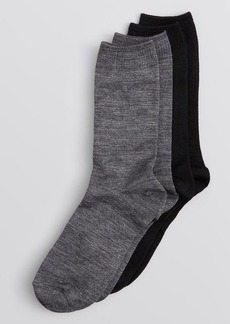 HUE Flat Knit Merino Wool Blend Socks