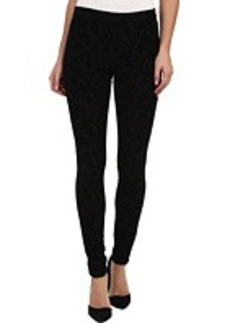 HUE Flocked Brocade Jersey Leggings