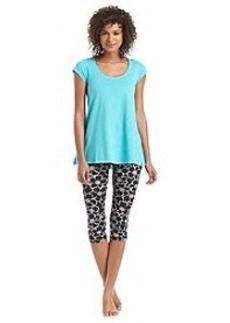 HUE® Floral Capri Leggings Pajama Set