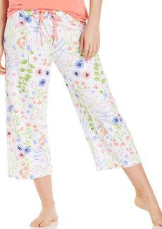 HUE Floral Capri Pajama Pants
