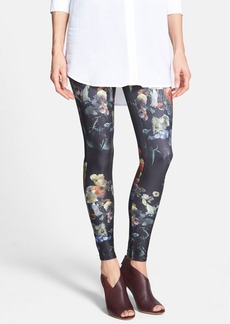Hue Floral Print Jersey Leggings