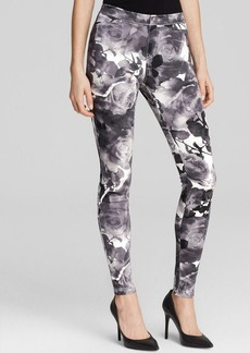HUE Floral Print Super Smooth Leggings