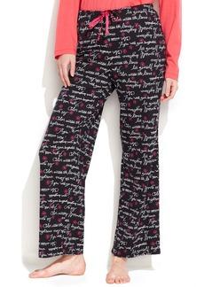 HUE Flower Script Pajama Pants