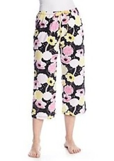 HUE® Garden Party Floral Sleep Capris