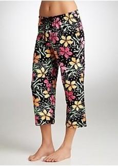 HUE Island Flowers Knit Capri Pajama Pants Plus Size