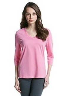 HUE® Knit 3/4 Sleeve Top - Aurora Pink