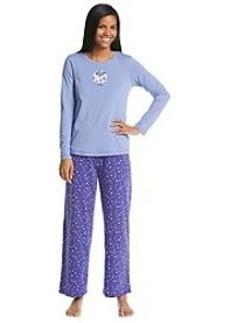 HUE® Knit Embellished Sleepy Sheep Pajama Set