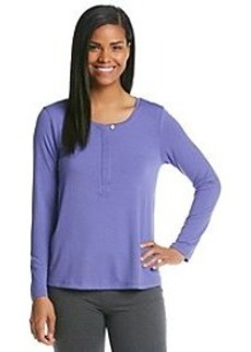 HUE® Knit Henley Top - Blue Iris