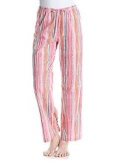 HUE® Knit Pants - Pink/Multi Endless Stripe