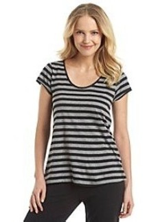 HUE® Knit Top - Lola Black/Grey Stripe