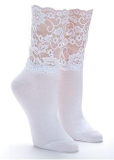 HUE Lace High Top Socks
