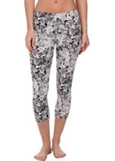 HUE Lace Printed Cotton Capri
