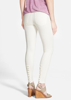 Hue Lace-Up Denim Leggings