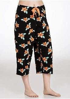 HUE Lani Hibiscus Knit Capri Pajama Pants Plus Size