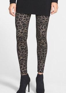Hue Leopard Print Ponte Knit Leggings