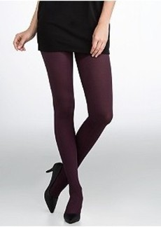 HUE Luxe Contour Rib Control Top Tights