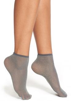 Hue Metallic Pinstripe Anklet Socks