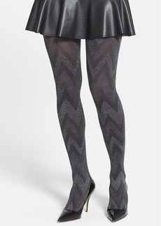 Hue Metallic Zigzag Tights