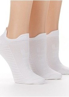 HUE Microfiber Air Sleek No Show Socks 3-Pack