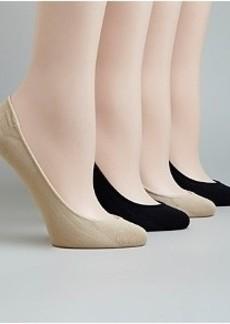 HUE Microfiber Shoe Liners 4-Pack