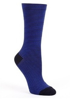 HUE Mini Stripe Crew Socks