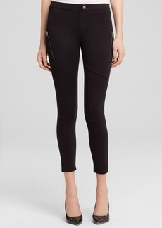 HUE Moto Super Smooth Denim Skimmer Leggings