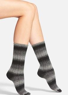 Hue Ombré Stripe Crew Socks