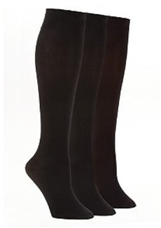 HUE Opaque Knee High Socks 3-Pack