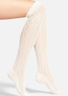 Hue Openwork Diamond Pattern Over the Knee Socks