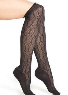 Hue Openwork Diamond Pattern Over the Knee Socks