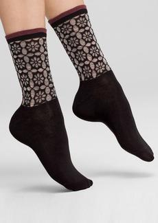 HUE Openwork Ruffle Socks