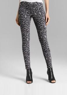 HUE Original Denim Leopard Leggings