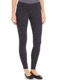 Hue Original Denim Leopard Print Leggings