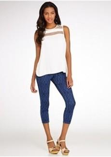 HUE Original Jeans Ikat Capri Leggings