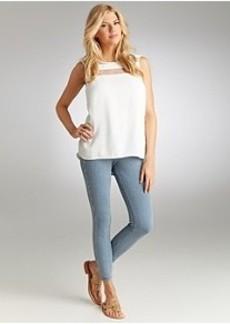 HUE Original Jeans Pinstripe Skimmer Leggings