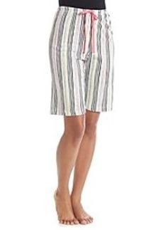 HUE® Party Stripe Bermuda Sleep Shorts