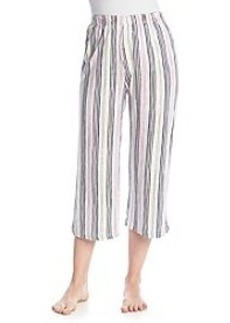 HUE® Party Stripe Sleep Capris