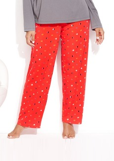 HUE Plus Size Half Moon Dot Slim Pajama Pants