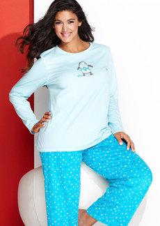HUE Plus Size Knit Top and Leggings Pajama Pants