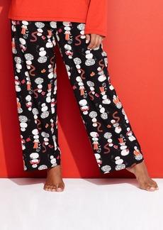 HUE Plus Size Snowman Pajama Pants