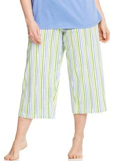 HUE Plus Size Stripe Capri Pajama Pants