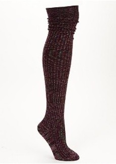 HUE Pointelle Over-The-Knee Socks